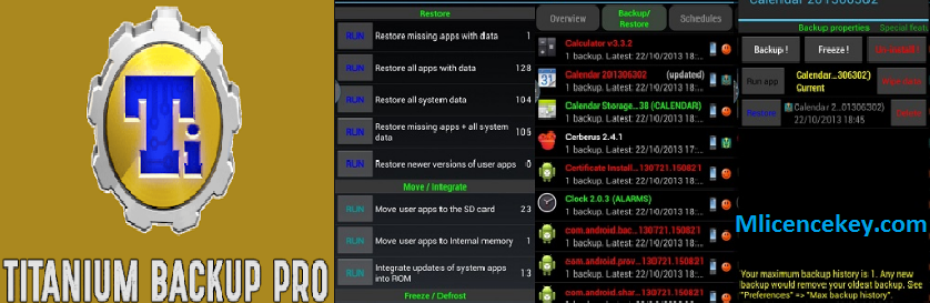 Titanium Backup Pro 8.4.0.2 Crack & License Key Full APK Download