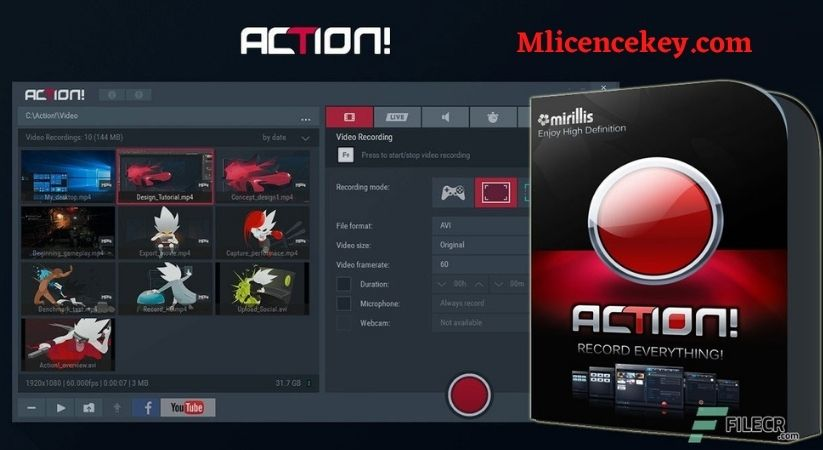 Mirillis Action 4.13.1 Crack With Activation Code & License Key